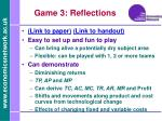 game 3 reflections