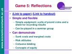 game 5 reflections
