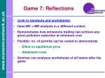 game 7 reflections