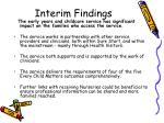 interim findings