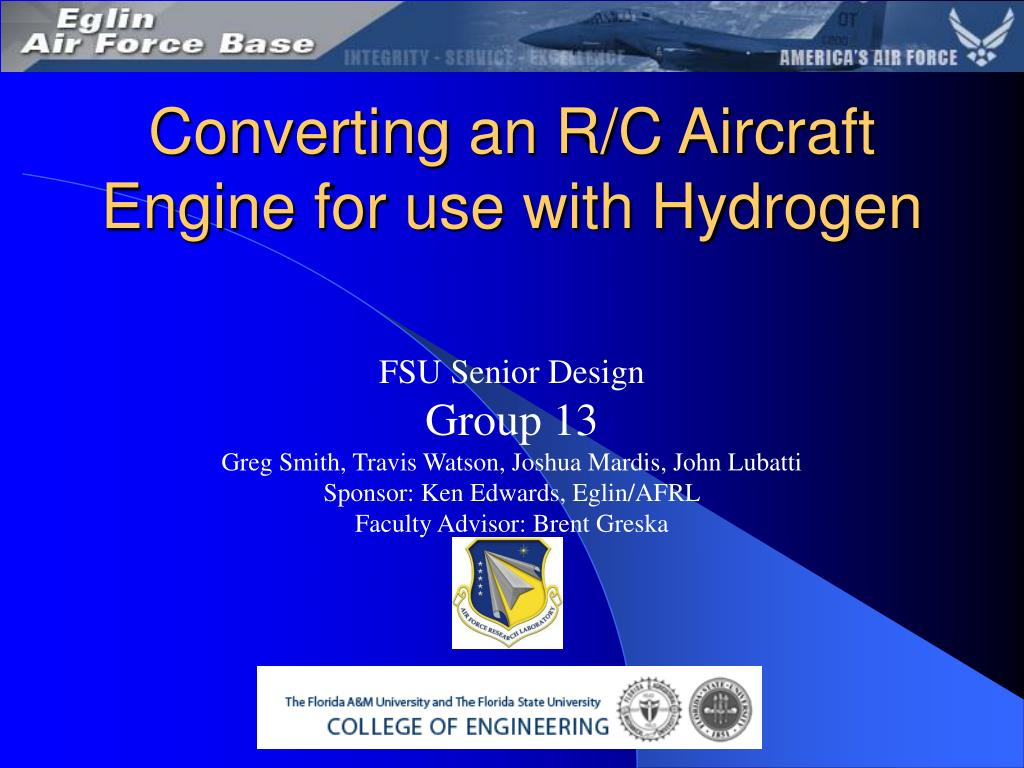 converting an r c aircraft engine for use with hydrogen l.