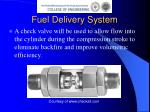 fuel delivery system10