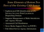 some elements of bottom two tiers of our existing cad system