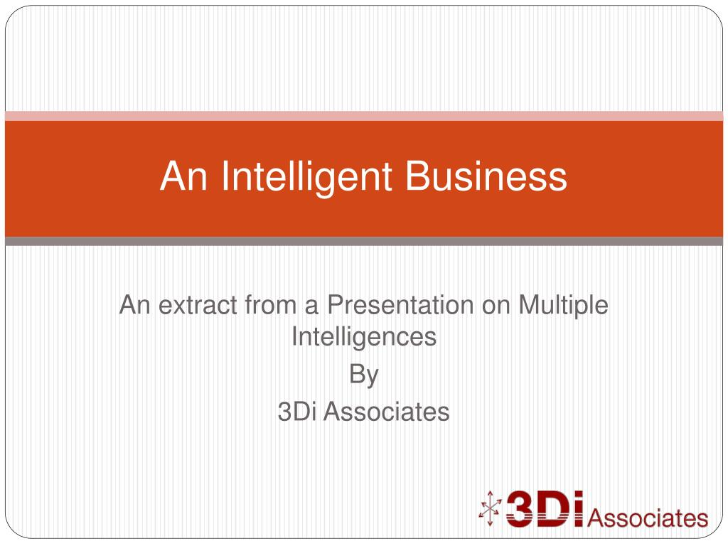 an intelligent business l.