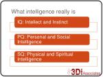 what intelligence really is