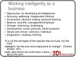working intelligently as a business