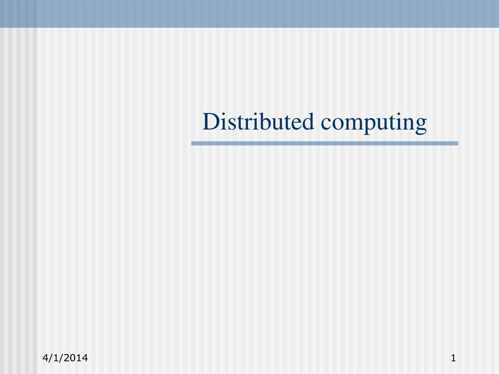 distributed computing l.