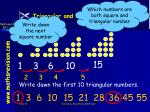 triangular and square numbers