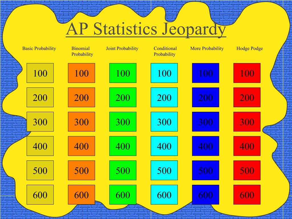 ap statistics jeopardy l.