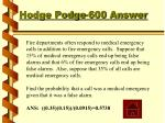 hodge podge 600 answer