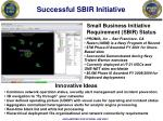 successful sbir initiative