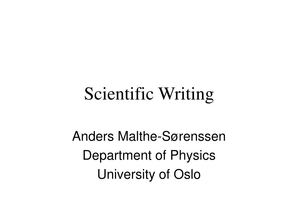 scientific writing l.