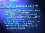 defining ampere and coulomb
