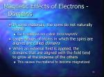 magnetic effects of electrons domains