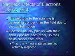 magnetic effects of electrons spins cont