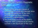 source of the earth s magnetic field