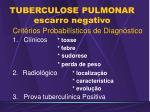 tuberculose pulmonar escarro negativo