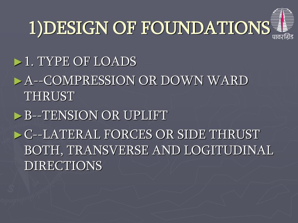 1)DESIGN OF FOUNDATIONS