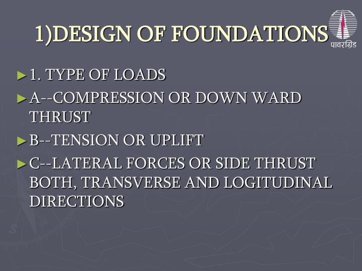1 design of foundations