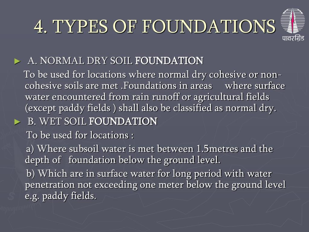 4. TYPES OF FOUNDATIONS