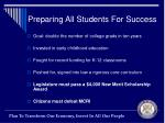 preparing all students for success