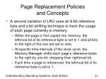 page replacement policies and concepts41