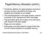 paged memory allocation cont d20