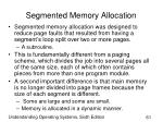 segmented memory allocation61