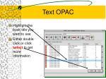 text opac14