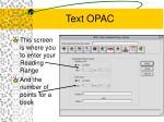 text opac31