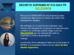 decreto supremo n 010 2003 tr delegados