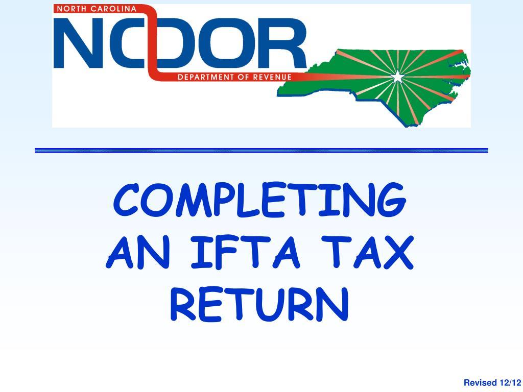 COMPLETING AN IFTA TAX RETURN