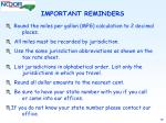 important reminders52