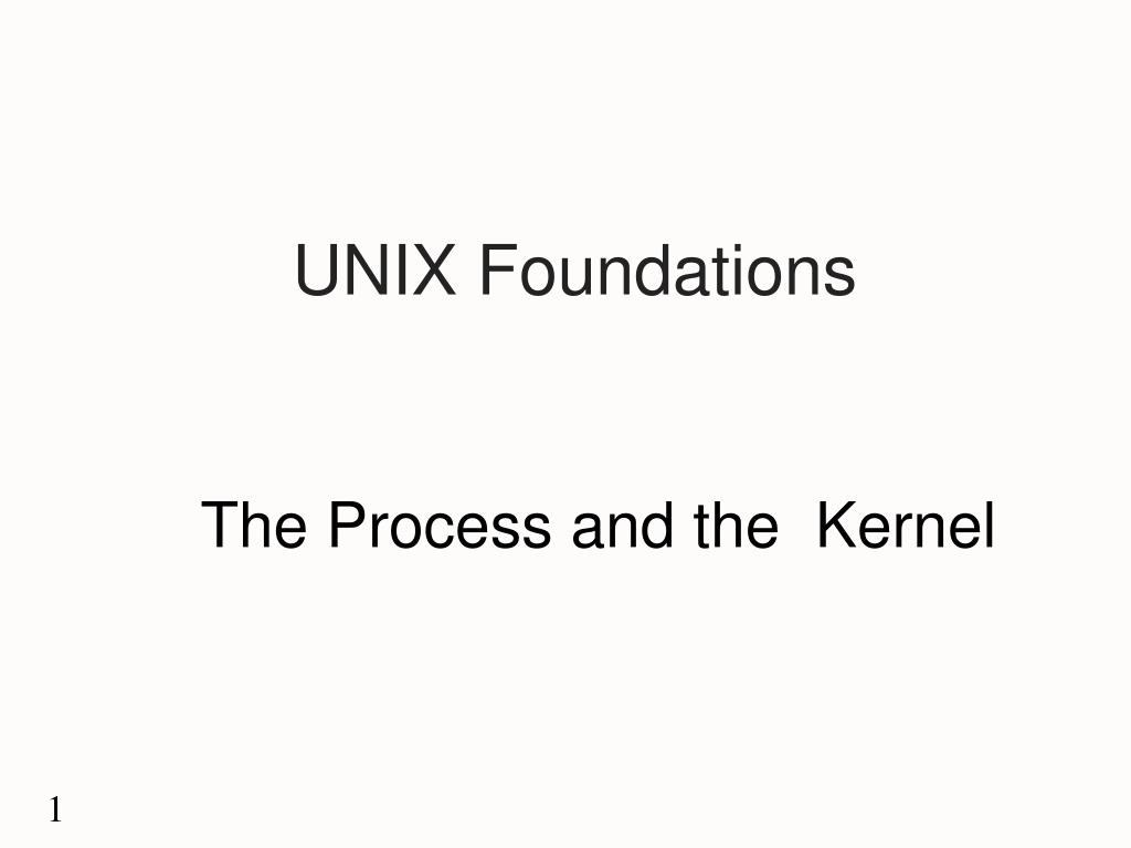 unix foundations l.