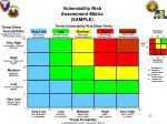vulnerability risk assessment matrix sample