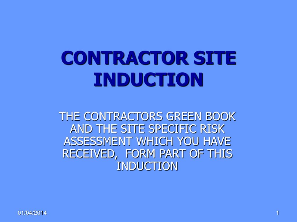 contractor site induction l.