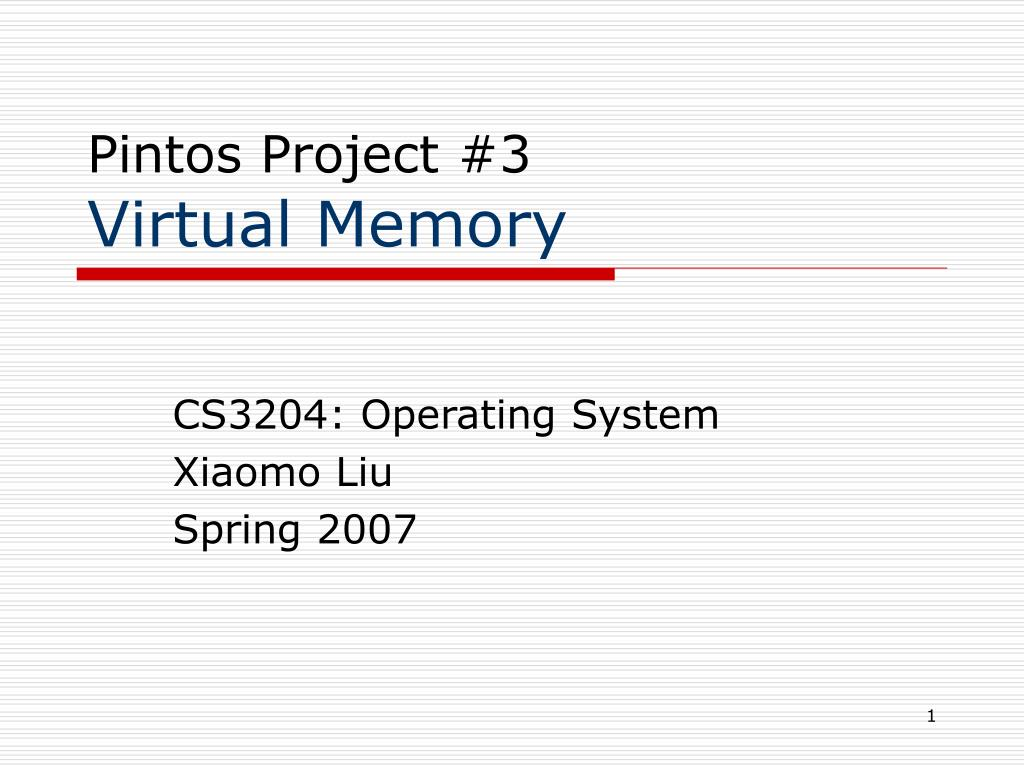pintos project 3 virtual memory l.