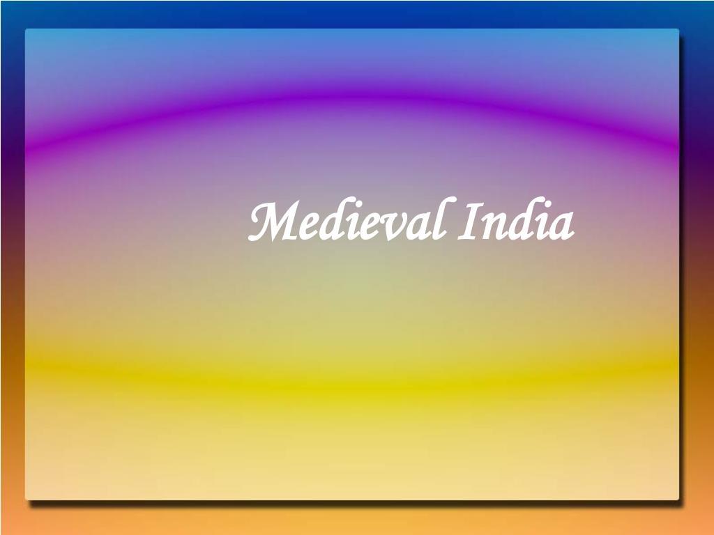 medieval india l.