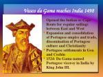 vasco da gama reaches india 1498