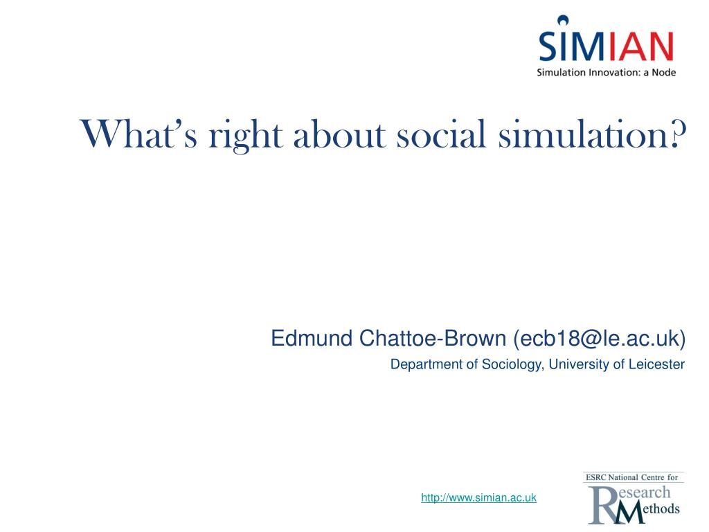 what s right about social simulation l.