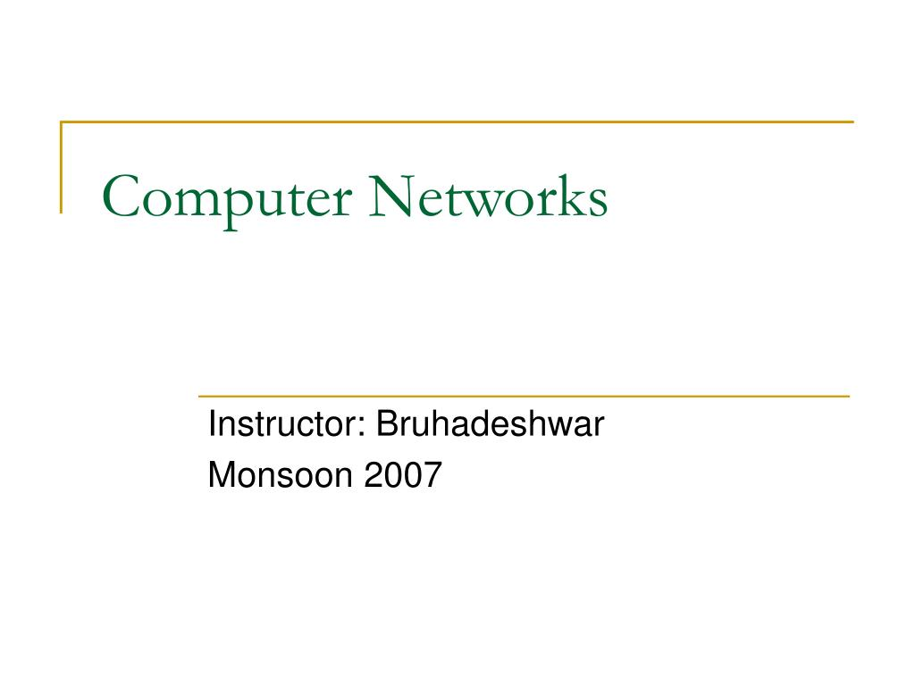 computer networks l.