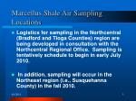 marcellus shale air sampling locations