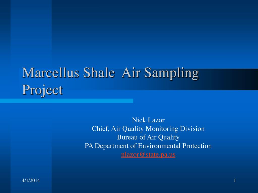 marcellus shale air sampling project l.