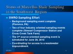 status of marcellus shale sampling in the southwest region