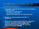 team resources for marcellus air sampling project
