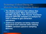 technology utilized during the marcellus shale air sampling project