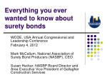 everything you ever wanted to know about surety bonds