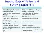 leading edge of patient and family engagement