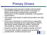 primary drivers