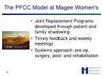 the pfcc model at magee women s